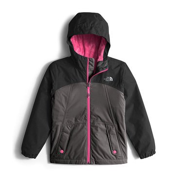 The North Face Big Girls' Warm Storm Rain, Jacket Grey