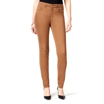 Style & Co Denim Curvy Skinny Pant in Tobacco