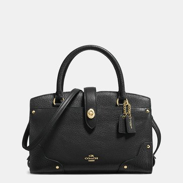 Coach Grain Leather Mercer 24 Satchel Black