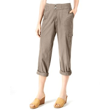 Style & Co Woven Convertible Pant in Summer Straw