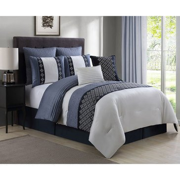 Gold Collection 8-Piece Comforter Set, Augustine - Queen