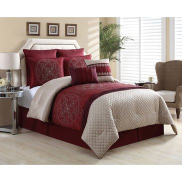 Gold Collection 8-Piece Comforter Set, Imperial Medallion - King