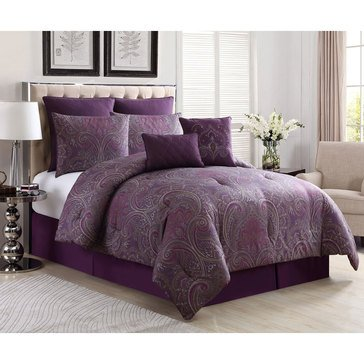 Gold Collection 8-Piece Comforter Set, Marquesa Plum - King