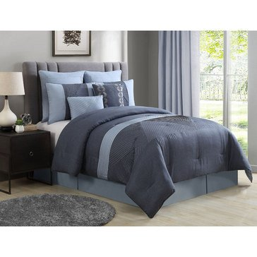 Gold Collection 8-Piece Comforter Set, Andros - Queen