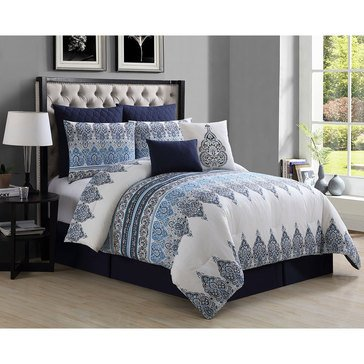 Gold Collection 8-Piece Comforter Set, Austin - Queen