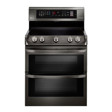 LG 7.3-Cu.Ft. Double Oven Electric Range, Black Stainless Steel (LDE4415BD)