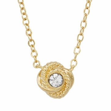 Kate Spade Gold Tone Infinity & Beyond Knot Pendant