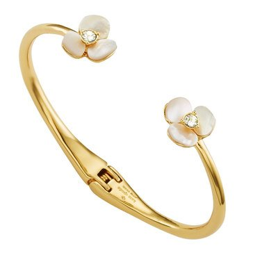 Kate Spade Gold Tone Disco Pansy Thin Cuff