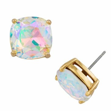 Kate Spade Gold Tone Small Square Studs