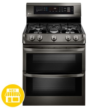 LG 6.9-Cu.Ft. Double Oven Gas Range, Black Stainless Steel (LDG4315BD)