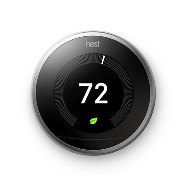Nest Learning Thermostat - 3rd Generation - Stainless Steel (T3007ES)