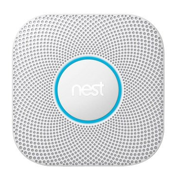 Nest Protect Smart Smoke & Carbon Monoxide Wired Alarm - 2nd Generation - White (S3003LWES)