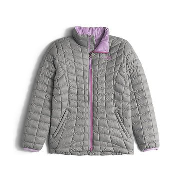 The North Face Big Girls' Thermoball Full Zip Jacket, Silver