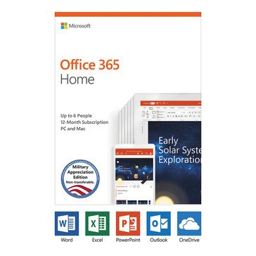 Microsoft Office 365 Home Premium - Military Appreciation Edition