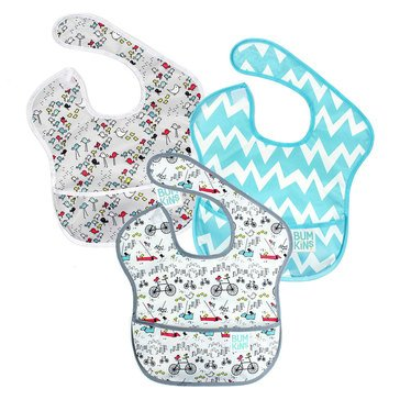Bumkins SuperBib 3-Pack, Neutral Assorted
