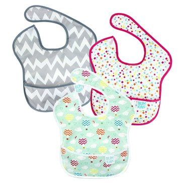 Bumkins SuperBib 3-Pack, Hot Air Balloons