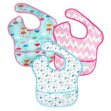 Bumkins SuperBib 3-Pack, Raindrops