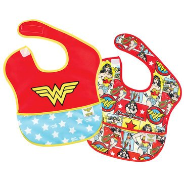 Bumkins SuperBib 2-Pack, Wonder Woman