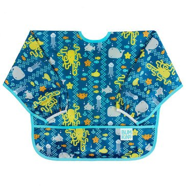 Bumkins Sleeved Bib, Sea Friends