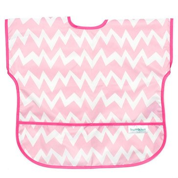 Bumkins Junior Bib, Pink Chevron