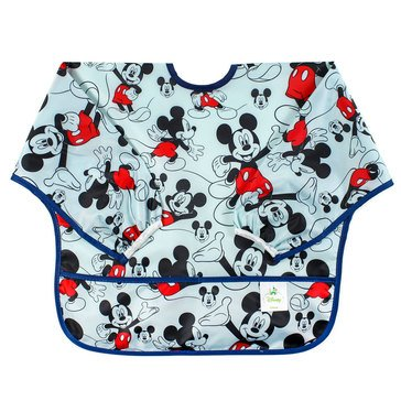 Bumkins Sleeved Bib, Mickey Checkered