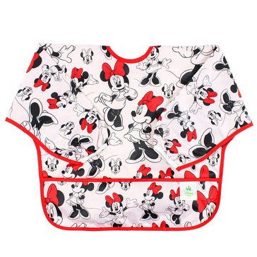 Bumkins Sleeved Bib, Minnie Spring