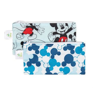 Bumkins Reusable Snack Bag 2-Pack, Mickey