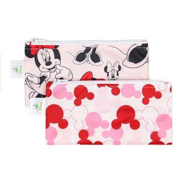 Bumkins Reusable Snack Bag 2-Pack, Minnie