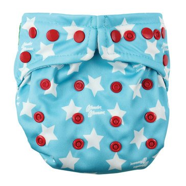 Bumkins Snap-In-One Cloth Diaper, Wonder Woman
