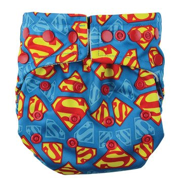 Bumkins Snap-In-One Cloth Diaper, Superman