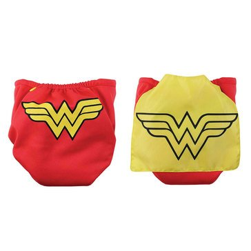 Bumkins Snap-In-One Cloth Diaper with Cape, Wonder Woman