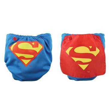Bumkins Snap-In-One Cloth Diaper with Cape, Superman
