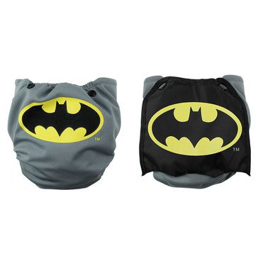 Bumkins Snap-In-One Cloth Diaper with Cape, Batman