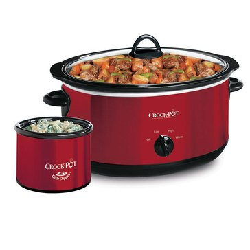 Crock-Pot Slow Cooker w/ Bonus Little Dipper Warmer, 6.5 Qt.