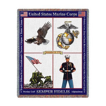 Pure Country USMC Semper Fidelis 1775 Throw Blanket