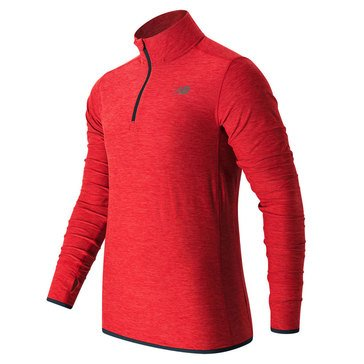 New Balance Men's Transit Quarter Zip - Red