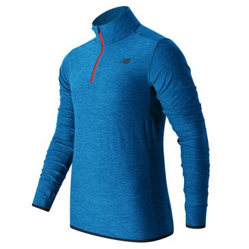 New Balance Men's Transit Quarter Zip - Blue