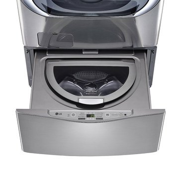 LG 1.0-Cu.Ft. SideKick Pedestal Washer, Graphite Steel (WD100CV)