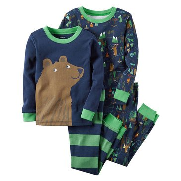 Carter's Baby Boys' Bear Campsite 4-Piece Sleepwear Set