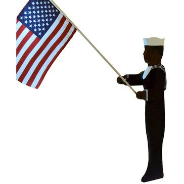 U.S. Navy Enlisted Male Lawn Ornament