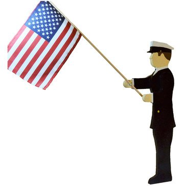 U.S. Navy Male Chief Lawn Ornament