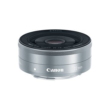 Canon EF-M 22mm f/2 STM Lens - Silver (9808B002)