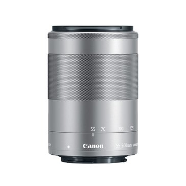 Canon EF-M 55-200mm f/4.5-6.3 IS STM Lens - Silver (1122C002)