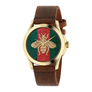 Gucci Women's G-Timeless Leather Strap Watch 38mm