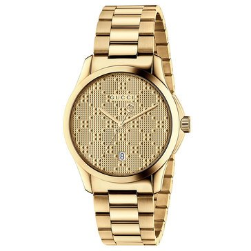 Gucci Womens G Timeless Diamante Goldtone Watch 38mm