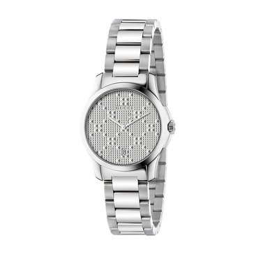 Gucci Women's G-Timeless Stainless Steel Bracelet Watch 27mm