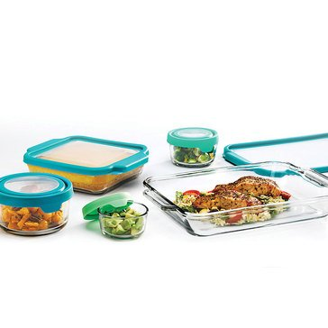 Anchor Hocking 10-Piece True Fit/True Seal Bake/Store Set, Teal
