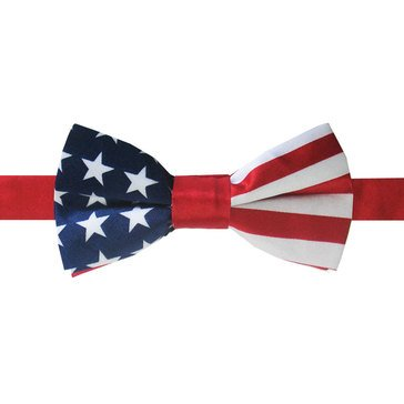 American Lifestyles Panel Stars & Stripes Pre-Tied Bow Tie -Navy