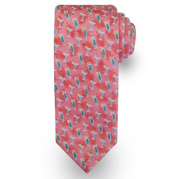 American Lifestyles Coastal Tropical Drinks Tie - Pink