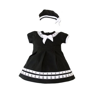 Trooper Infant Black Dress With Beret 2 Piece Set
